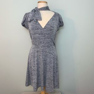 Candice's grey surplice dress